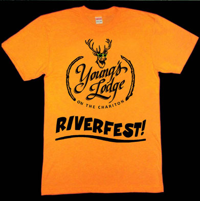 Riverfest T-Shirt at Young's Lodge